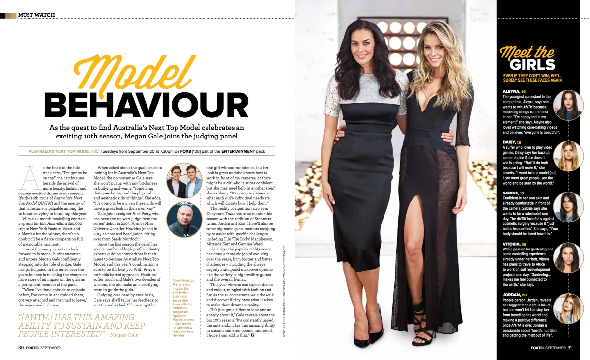 Megan Gale (Foxtel magazine)