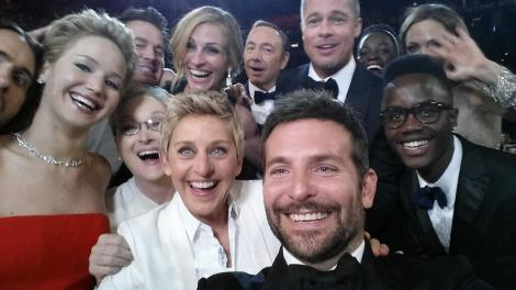 Ellen's best. selfie. ever.