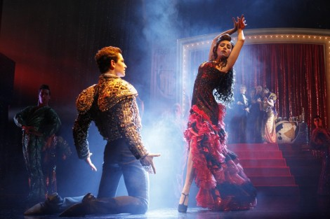Thomas Lacey and Phoebe Panaretos in Strictly Ballroom: The Musical. Photo by Jeff Busby.