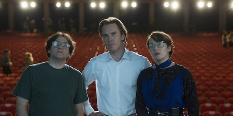 (From left) Michael Stuhlbarg, Michael Fassbender and Kate Winslet in Steve Jobs