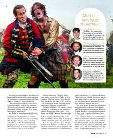 David Berry: Outlander (Foxtel magazine)