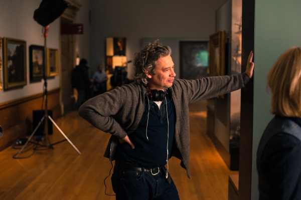 Director Dexter Fletcher on the set of Sunshine on Leith. Image: eOne